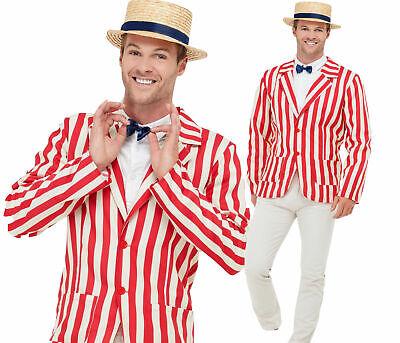 Old English Jacket + Hat Mens Fancy Dress Barbershop 20s Adults Costume - Old English Kostüm