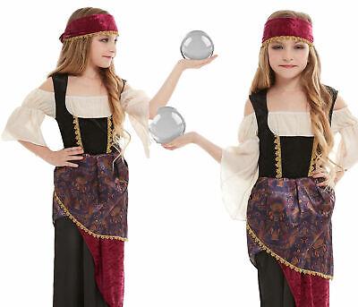 Mystisch Zigeuner Wahrsagerin Renaissance Esmeralda Mädchen Kostüm 4-12 (Zigeuner Kostüm Mädchen)