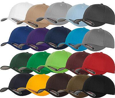 FLEXFIT CAP BASEBALL CAPS graue Unterseite ORIGINAL FLEX FIT MÜTZE BASECAP KAPPE - Flex Fit Cap