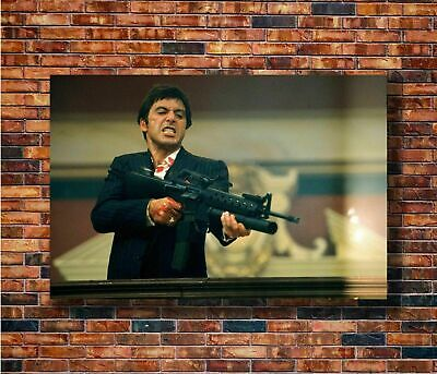 Art Poster 049 Scarface Classic Movie Al Pacino Fighting GUN