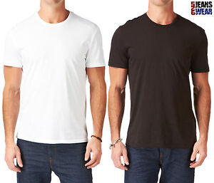 levi 39 s 2 pack men 39 s crew neck plain t shirts black white