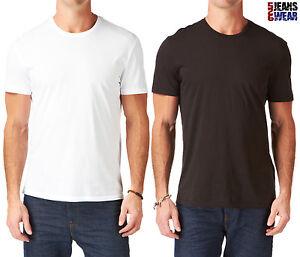 Levi 39 s 2 pack men 39 s crew neck plain t shirts black white for Levis plain t shirts