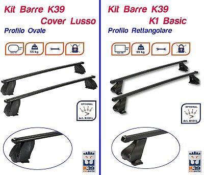 Barre Portatutto Portapacchi VOLVO V50 2008>2012 5 PORTE RETTANGOLARI K39