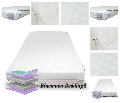 Baby Toddler Cot Bed Spring Mattress Quilted Cot Bed Mattress 140 X 70 X 13 Cm
