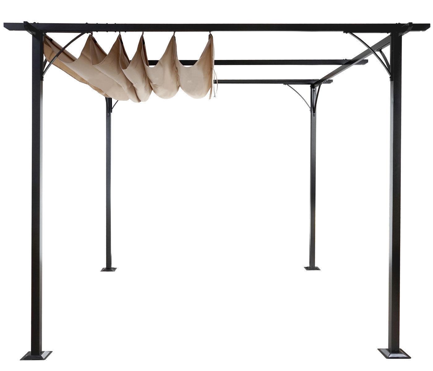 3x3 m pavillon garten pergola sonnenschutz terrassen. Black Bedroom Furniture Sets. Home Design Ideas