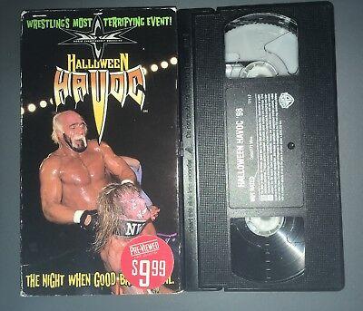 WCW Halloween Havoc '98 (VHS, 1998) nWo WWF WWE HULK HOGAN ULTIMATE WARRIOR RARE (Halloween Havoc 98)