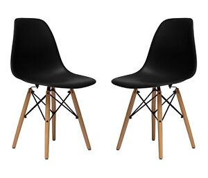 Brand new in box- set of 2 Eames chairs black