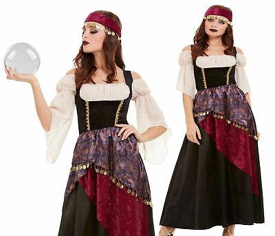 Damen Deluxe Romany Zigeuner Wahrsagerin Kostüm Outfit Damen - Zigeuner Outfit