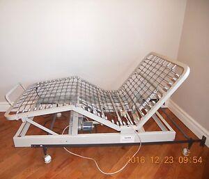 adjustable motorized bed frame twin solid steel remote control hospital bed