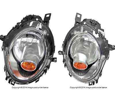Mini Cooper Halogen Headlight Assembly Left Right Set Yellow Turn Signal oem