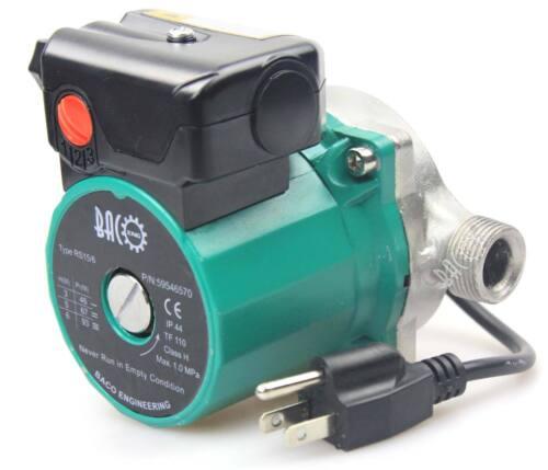 "3/4""NPT Stainless Steel 3-Speed Hot Water Circulating Pump Circulator Pump 130mm"