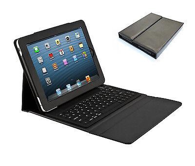 Tasche Schutzhülle Case mit Bluetooth Tastatur für Apple iPad Air (5) | Schwarz