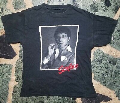 VTG Scarface With Cigar T-Shirt Size M Distressed