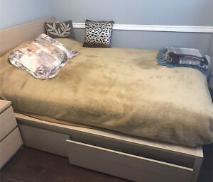 IKEA Malm bed frame (full) with Meistervik mattress