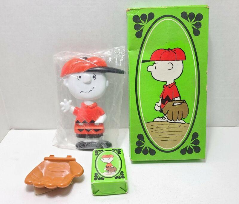 Vintage CHARLIE BROWN Baseball Mitt SOAP HOLDER Peanuts Avon NOS in Box Bathroom