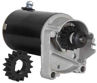 Starter Motor Briggs & Stratton 14 16 18 HP 497596 V-Twin Engine Craftsman Mower, used for sale  USA
