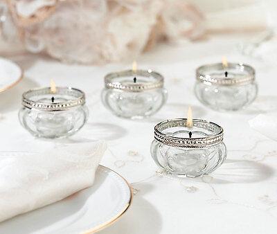 Wedding Reception Table Centerpieces (Wedding Reception Table Decorations Centerpiece Set of 4 Tealight Candle)