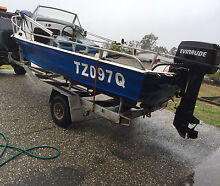 4.2mtr alloy 1/4 cab (reg on boat and trailer) MUST BE SOLD Augustine Heights Ipswich City Preview