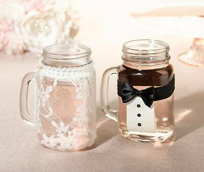 Bride and Groom Drink Glass Covers](Bride And Groom Glasses)