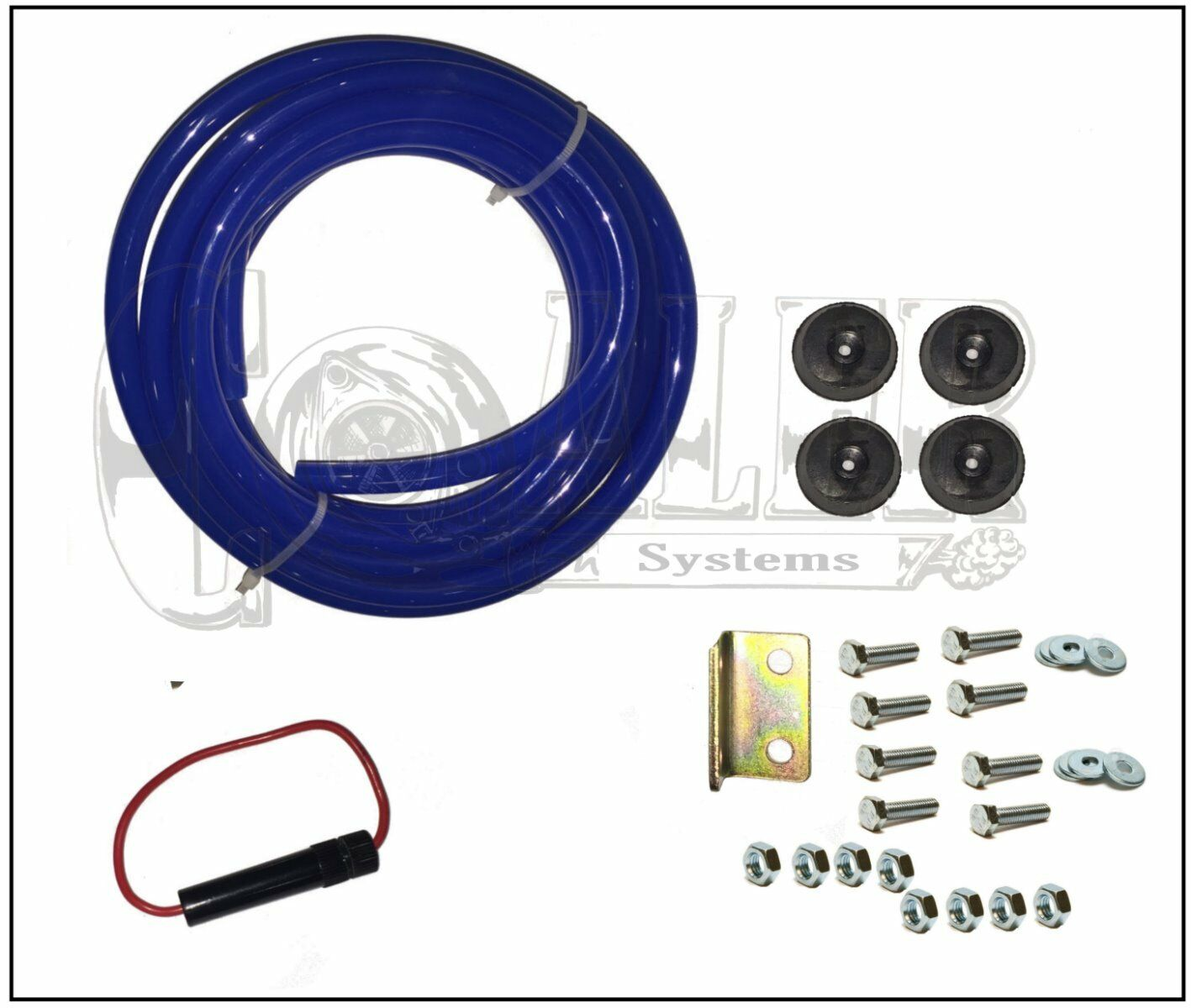 ::Air Horn 4 Trumpet 12 Volt Compressor 9ft Hose 150 dB Train 120 PSI Kit  Truck