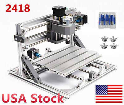 Usa Diy Cnc 2418 Desktop Grbl Control Laser Machine Woodpcb Engraving Milling