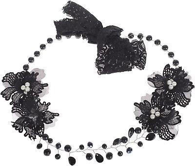 Vintage SHAUNTE Perlen FLORAL Flower FLAPPER Haarkranz / HAARBAND Rockabilly