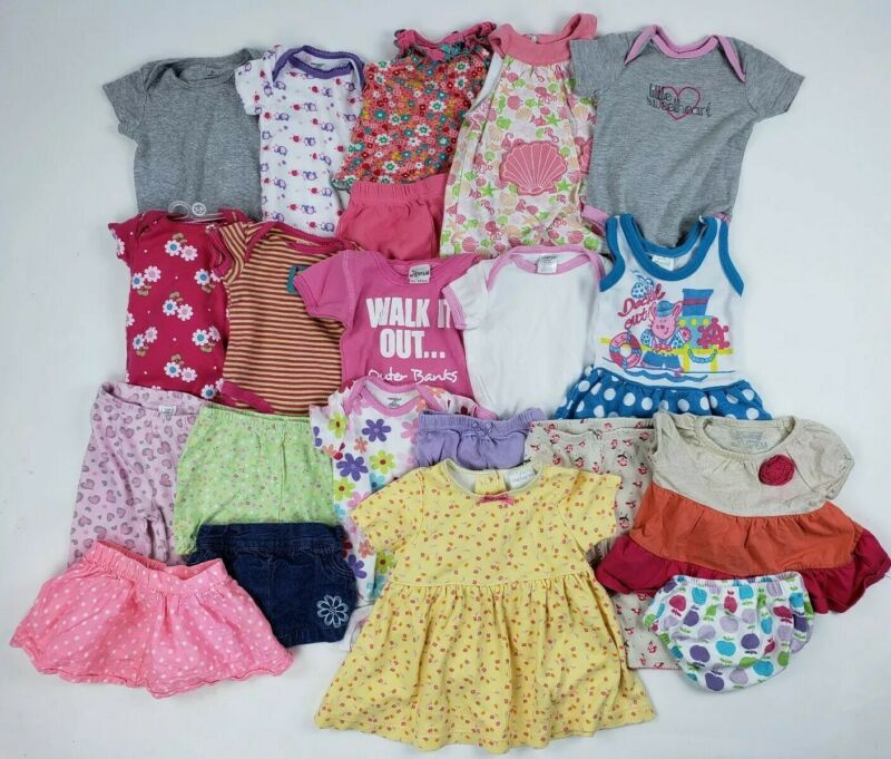 3-6 Months Girl Carters Oshkosh Gerber Onesie Etc Clothes Lot Outfit Mixed Dress