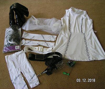 Frankenstein Girl Costume (Frankie's Girl Frankenstein Bride Costume teen size 7-9 or sm w/extras)