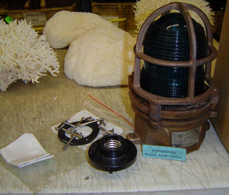 Rare Antique Nautical Lamp - US MADE (Paulhun)