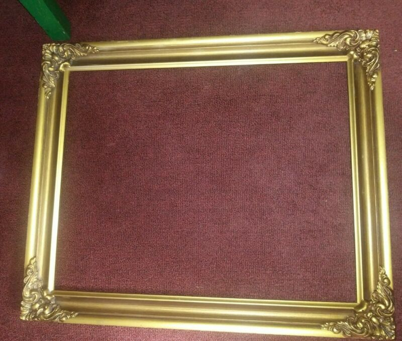 "Stunning ornate gold scrolls oversize chic wood frame 16x20"" in art size pretty"