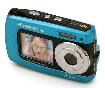 "Polaroid iS085 16 MP Digital Camera w/ 2.7"" LCD EUC Display BLUE"