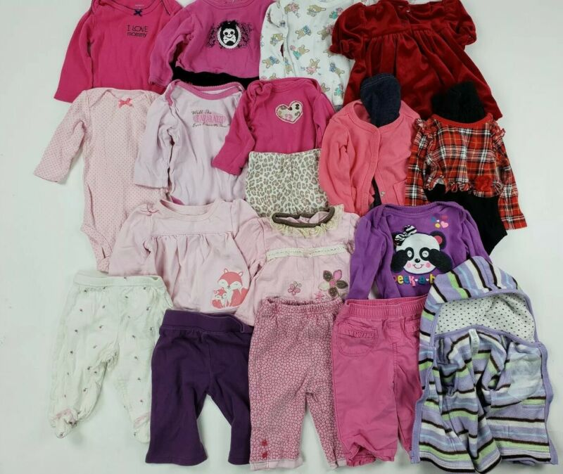 Girls 3-6 Months Baby Clothes Carters Circo Place.. Mix Lot Outfit Hoodie Dress