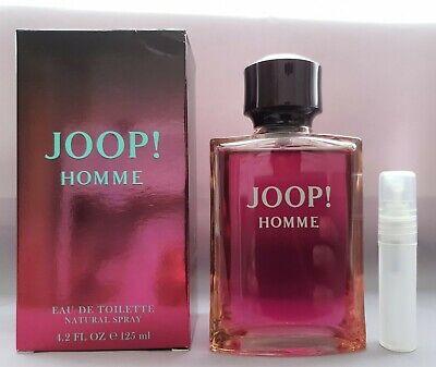 JOOP HOMME 5ML EDT TRAVEL SPRAY PERFUME SAMPLE AFTERSHAVE FOR MEN