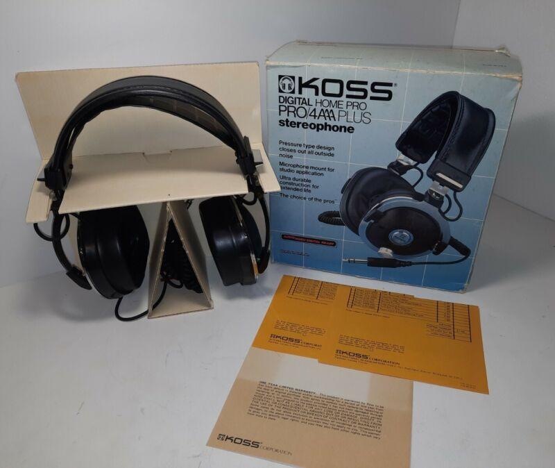 Koss PRO 4AAA Plus Stereophones Vintage Rare 1975