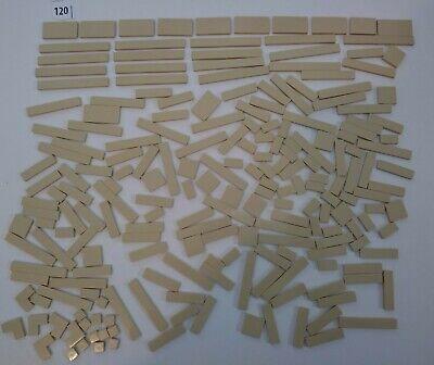 200 Lego lot Tile Tan Friends Girls Star Wars Harry Potter 2x4 1x8 1x6 1x2 1x1