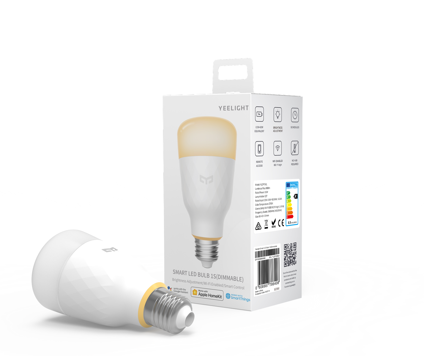 Yeelight LED Bulb 1S Dimmable - Lampadina Led WiFi E27 8,5W 800lm 2700K