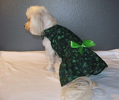 Dark Green St. Patrick's Day Dress Dog Puppy Teacup Pet Clothes XXXS - Large](Dog St Patrick's Day Clothes)