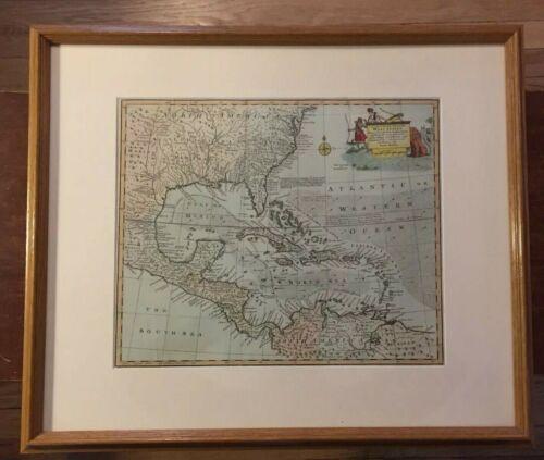 Antique Map of America c 1747 Emanuel Bowen Map of the West Indies Original Rare