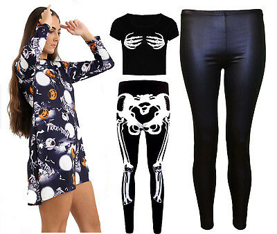 Halloween Kostüme Damen Pumpkin Damen Langärmlig Swing Skater Schläger Kleid