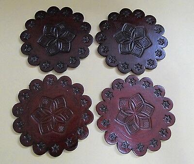 Подставки Dark brown round coasters Scallooped