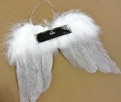 In Loving Memory Ornaments (Personalized In Memory of a Loved One Angel Wings Ornament Loved One or)