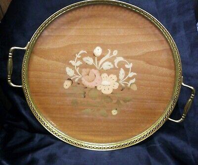 Vintage Intarsitalia Wood Inlaid Tray Made in Italy