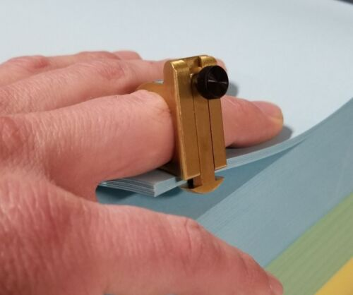 KWIK-PIK-R Sheet Counting Ring Paper Counter - Fits on your finger! Binding Tool