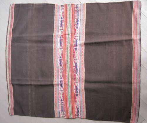 AUTHENTIC OLD BOLIVIAN Weaving MANTA AWAYO TARI Textile Cloth Bolivia Andes #10