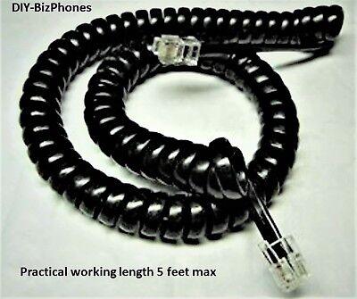 Nec Dtr8d Dtr16d Dtr32d Handset Cord 9 Ft Black Series I Phone Bk Coil Curly