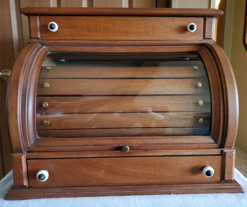 Antique Cashier Style/Cash Register Spool Cabinet