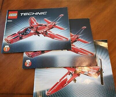 Lego Technic 9394 - Jet Plane - Instruction Books A and B builds