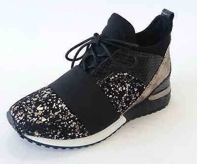 La Strada Sneaker 1707151 5401 Black glitter gold - Glitter Gold Schuhe