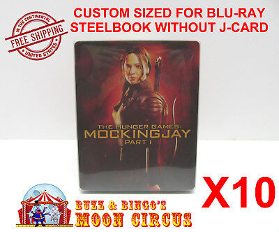 10x BLU-RAY STEELBOOK CLEAR PROTECTIVE SLEEVE - BOX PROTECTORS - NO J-CARD SIZE