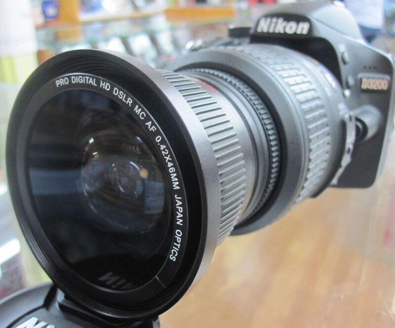 Wide Angle macro fisheye lens C-PL for Nikon d3300 d3300 d5300 d5100 d3200 d40x